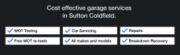 Cost effective garage services in Sutton Coldfield.